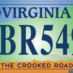 The Crooked Road License Plate