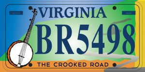 The Crooked Road Licence Plate
