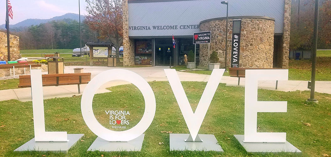 LOVE at a Virginia Welcome Center