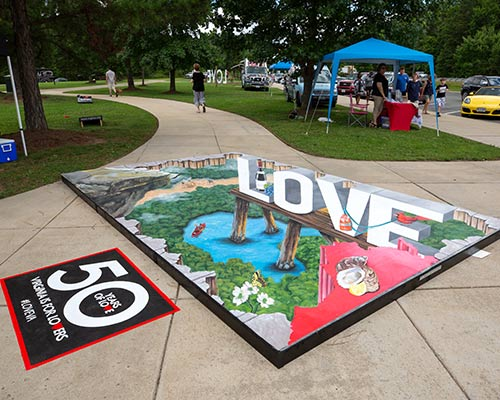 3D Lovework at a Virginia Welcome Center